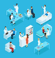 people and healthcare isometric set vector image
