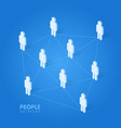 social people network concept isometric vector image