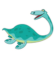 swimming dinosaur vector image