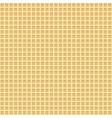 Waffle seamless background vector image