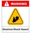 high voltage sign or electrical safety sign danger vector image