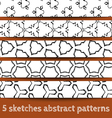 Set of sketches abstract seamless patterns vector image vector image