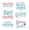 Easter hand drawn lettering set vector image vector image