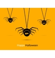 Halloween spiders design poster template Happy vector image