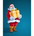 Christmas Santa Claus big gift vector image