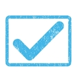 Ok Icon Rubber Stamp vector image