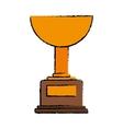 drawing trophy winner award american football vector image
