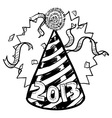 Happy New Year hat 2013 vector image
