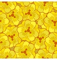 abstract yellow flowers seamless pattern vector image vector image