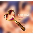Find love vector image vector image