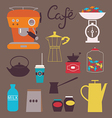 sweets and coffee cafe vector image