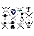Baseball equipments set vector image
