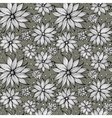 Seamless floral doodle background pattern vector image