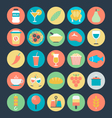 Food Colored Icons 7 vector image