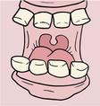 cartoon open mouth vector image