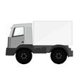Delivery car grey vector image
