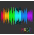 Digital abstract equalizer Multicolored waveform vector image