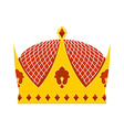 Golden Royal Crown with precious stones on a white vector image