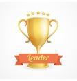 golden winner cup on white vector image