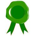 green blank seal vector image
