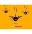 Halloween spiders design poster template Happy vector image