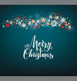 holiday blue christmas card vector image
