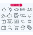 lines icons set e-commerce shopping vector image