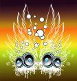 music fantasy background vector image