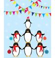 penguins winter vector image