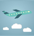plane or airplane in the sky in vector image