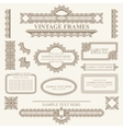 Vintage frames and design elements vector image