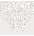 Christmas and New Year elegance white card vector image vector image
