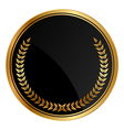 black medal old laurels vector image vector image