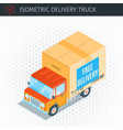 delivery truck with a box vector image vector image