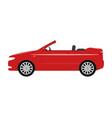 a cartoon red car cabriolet vector image vector image