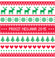 Prosit Neujahr 2015 - Happy New Year in German pa vector image