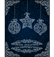 Christmas card with abstract toys vector image vector image