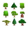 Cartoon trees set vector image