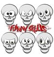 Funny Skulls vector image vector image