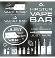 Vapor bar and vape shop logo vector image