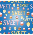 delicious sweet cakes vector image vector image