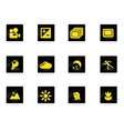 Photography Silhouette Icons vector image
