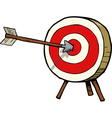 a target with an arrow in the center vector image vector image