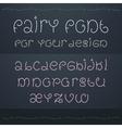 Dark fairytale font Nice ornate linear style font vector image