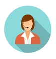 Call center operators female avatar icons vector image