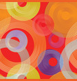 abstract geometric circle seamless pattern line vector image