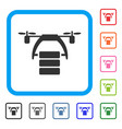 Cargo drone framed icon vector image