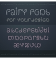 Dark fairytale font Nice ornate linear style font vector image