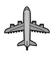 flat airplane cartoon vector image