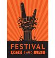 rock festival vector image